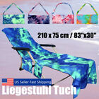 Portable Beach Towels Sun Lounge Chair Cover Poolside Garden Sunbathing