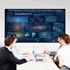 """133-200"""" Foldable Portable Projector Screen 16:9 Rear Front Projection US"""
