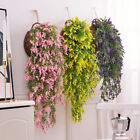 Home Garden Lavender Flowers Vine Artificial Lavender Leaves Wall Hanging Decor