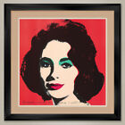 "35W""x35H"": ELIZABETH LIZ TAYLOR by ANDY WARHOL - DOUBLE MATTE, GLASS and FRAME"
