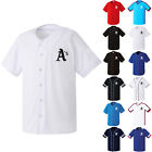 CAPSROK Oakland Athletic Uniform Button Jersey Baseball Team T-Shirts 0111 on Ebay