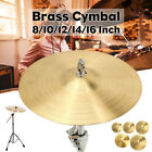"""12"""" 14"""" 16"""" Professional Brass Crash Cymbal Jazz Drum Kit Replacement Accessory"""