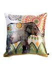 Set Of 2 Elephant Print Square Cushion Covers Sofa Decorative Home Décor