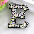 Rhinestone Patch A-Z Letter Iron-on Patches Garment Applique Clothing Stickers
