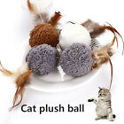 Funny Pet Toys Plush Ball Feather Mint Toy Cat Teaser Interactive Training Toys