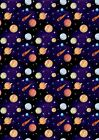 Planets StarsOuter Space Wallpaper A4 Sized Edible Wafer Paper / Icing Sheet