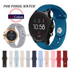 A# Quick Release 20mm 22mm Soft Silicone Sport Watch Strap for Fossil Watch Band image