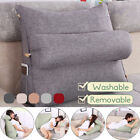 Adjustable Back Wedge Sofa Pillow Office Bedrest Support Lumber Waist Cushion US image