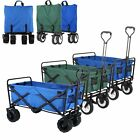 Collapsible Folding Beach Wagon Camping Garden Utility All-Terrain Cart- 170 Lbs