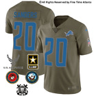 NEW Barry Sanders Detroit Lions Men's Olive Salute to Service Military Jersey $69.88 USD on eBay