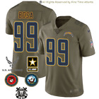 NEW Joey Bosa Los Angeles Chargers Men's Olive Salute to Service Military Jersey $69.88 USD on eBay