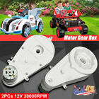12V Power Wheels Motor With Gearbox For Kid Ride On Electric Car Jeep Toy 1 Pair