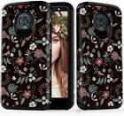 Case for Motorola Moto G6 Hybrid Dual Layer Protective Cover Anti-Scratch Floral