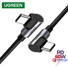 Ugreen USB C to USB C Cable Right Angle Type C PD 60W Fast Charging for iPad Pro