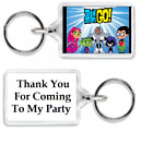 10 x FUNKY PERSONALISED KEYRINGS PARTY BAG FILLERS - GIFTS THEME T