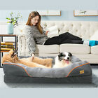 Premium Orthopedic Soft Thick Foam Waterproof Dog Bed Sofa with Removable Cover