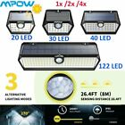 MPOW 30/40/63/122 LED Solar Light Motion Sensor Outdoor Security Wall Lamp 3Mode