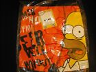 New The Simpsons Mens boxer trunks Stretchy Snug  Orange red small medium large