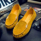 US Women's Casual Ballerina Ballet Shoes Flat Suede Moccasin Slip On Loafers #