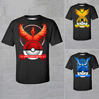 Pokemon Team Valor Mystic Instinct Pokeball T-Shirt Short Sleeve Shirt Tops Tee image