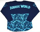 New Universal Studios Jurassic World Blue Camo Long Sleeve Jersey Shirt XS-2XL