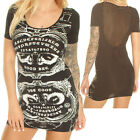 BANNED PERFECT TEN LONG TOP / MINI DRESS  PUNK GOTHIC ALTERNATIVE OUIJA OCCULT