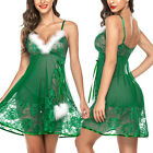 Sexy Lingerie for Women's Lace Santa Christmas Babydoll Underwear Xmas Gift US