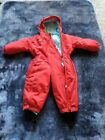 RED WEDZE SNOW SKI SUIT, AGE 18 MONTHS excellent condition