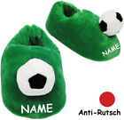 "Plüschhausschuhe - "" Football "" - Slippers/Slippers - Incl. Name - Size Size"