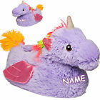"Slippers/Slippers - "" Unicorn - Purple "" - Size Size 29 - 40 Eu _ Beautiful Warm"