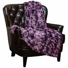 Chanasya Fuzzy Faux Fur Throw Blanket - Light Weight Blanket for Bed Couch and L