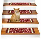 "Set of 14 - Non Slip Carpet Stair Treads (8.5"" x 26"") Rugs for Stairs FLORAL"