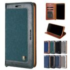 Canvas Magnetic Flip Wallet Card Stand Shockproof Case Cover For iPhone 6/7/XR