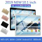 10.1 inch Android 8.0 10 Core Dual SIM Tablet PC WIFI 8 512G Tablet Pad  32G TF