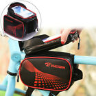 Touch Screen Bike Front Top Tube Frame Bag Pack Double Pouch Holder Waterproof