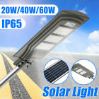 20W/40W/60W LED Solar Powered Outdoor Wall Street Light PIR Motion Sensor