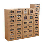 10/20 Pcs Foldable Cardboard Shoe Box Storage Case Stackable Home Organizer