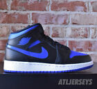 Nike Air Jordan 1 Mid GS Black Royal White 554725-068 Size