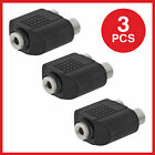 3.5mm Stereo Jack Female to 2 RCA Female Jack Y Splitter Audio Adapter Lot