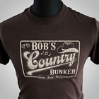 Bob's Country Bunker T Shirt The Blues Brothers Jake Elwood Ray Charles Cool Brn
