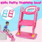 198lbs Child Kids Toddler Potty Training Toilet Seat Ladder Chair w/ Step Stool image