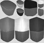 Canvas Custom Black & Gray Checked Cover Set for Kitchen Countertop Appliances