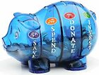 Blue/Pink Money Savvy Pig Piggy Bank The 21st Century Piggie Bank Money Saving