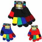 Kids Colourful Stretchy Gloves Magic Knitted Warm Winter Toddlers Children