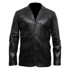 Blazer Black Lapel Tailored Slim Fit Soft Casual Party Wear Leather Jacket