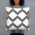 Grey and White Decorative Throw Pillow