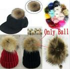 5inch Large Faux Raccoon Fur Pom Pom Ball With Press Button For Knitting Hat *1