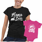 Mothers Day Tshirts, Matching Mom And Son Outfits, Mama Bear Baby Cub Set
