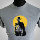 Used, The Good The Bad and The Ugly Movie Themed Retro T Shirt Clint Eastwood Grey for sale  Shipping to Ireland