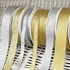 Glitter Gold/silver Ribbon Small-large Craft Gift Wrap Wedding Cake Edge Per 1m